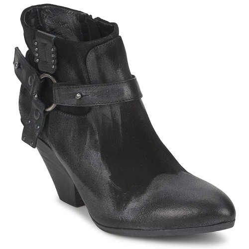 Zapatos Mujer Low boots Strategia SANGLA Negro / Plateado