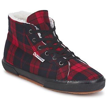 Zapatos Zapatillas altas Superga 2095 Rojo / Negro