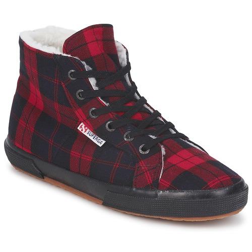 modelo más vendido de la marca Superga 2095 Rojo / Negro - Envío gratis Nueva promoción - Zapatos Deportivas altas