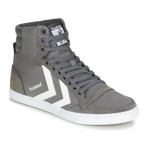 Los últimos zapatos de descuento para hombres y mujeres Zapatos especiales Hummel TEN STAR HIGH Gris / Blanco