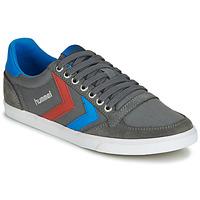 Zapatos Hombre Zapatillas bajas Hummel TEN STAR LOW CANVAS Gris / Azul / Rojo
