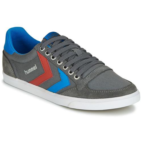 Zapatos especiales para hombres y mujeres Hummel TEN STAR LOW CANVAS Gris / Azul / Rojo