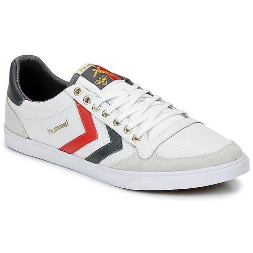 Zapatos Zapatillas bajas Hummel TEN STAR LOW Blanco / Gris / Rojo