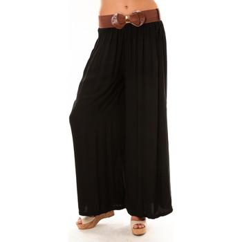 textil Mujer Pantalones fluidos De Fil En Aiguille Pantalon Trionfo noir Negro
