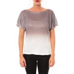 textil Mujer Camisetas manga corta De Fil En Aiguille Top Carla marron Marrón