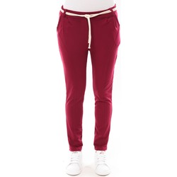 textil Mujer Pantalones con 5 bolsillos De Fil En Aiguille Pantalon Sandra bordeaux Rojo