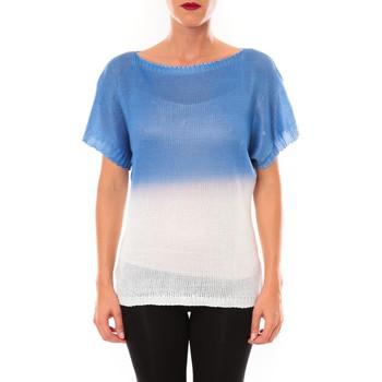 textil Mujer Camisetas manga corta De Fil En Aiguille Top Carla bleu Azul