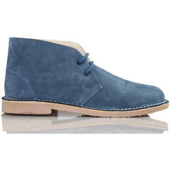 Zapatos Zapatillas altas Arantxa ARANCHA PISACACAS COMODOS UNISEX PIEL AZUL