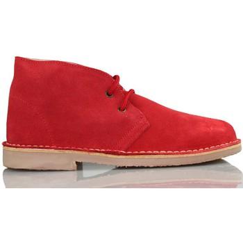 Zapatos Zapatillas altas Arantxa ARANCHA PISACACAS COMODOS UNISEX PIEL ROJO