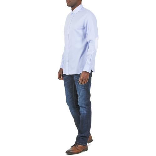 Textil Larga Hackett Mutli Text Azul Hombre Camisas Manga Square l5Fu1JcTK3
