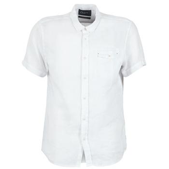 textil Hombre camisas manga corta Chevignon C-LINEN Blanco