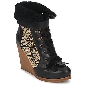 Zapatos Mujer Botines Etro DENISE Negro / Beige