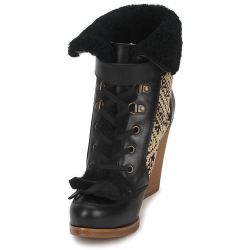 Mujer Etro Zapatos NegroBeige Denise Botines RjL3A54q