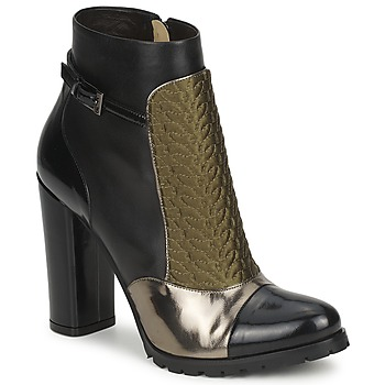 Zapatos Mujer Botines Etro FEDRA Negro / Kaki / Plateado