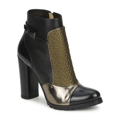 Casual salvaje Zapatos especiales Etro FEDRA Negro / Kaki / Plateado