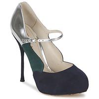 Zapatos Mujer Zapatos de tacón John Galliano AO2179 Negro / Gris