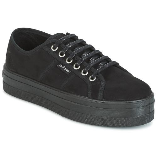 Zapatos Mujer Zapatillas bajas Victoria BLUCHER ANTELINA PLATAFORMA Negro