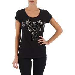 textil Mujer camisetas manga corta S.Oliver T-SHIRT MANCHES COUR Negro
