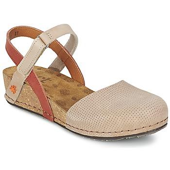Zapatos Mujer Sandalias Art POMPEI 739 Beige