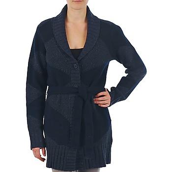 textil Mujer Chaquetas de punto Gant N.Y. DIAMOND SHAWL COLLAR CARDIGAN Marino