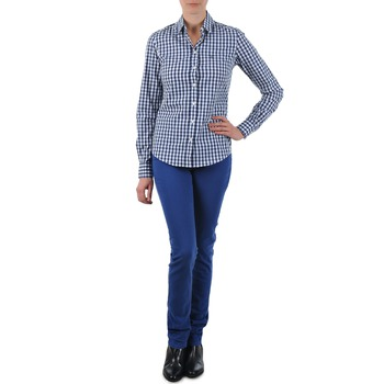 textil Mujer vaqueros rectos Gant N.Y. KATE COLORFUL TWILL PANT Azul
