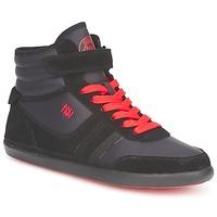 Zapatos Mujer Zapatillas altas Dorotennis MONTANTE STREET LACETS + VELCRO Negro
