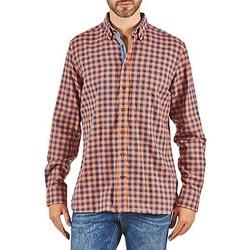 textil Hombre camisas manga larga Hackett SOFT BRIGHT CHECK Naranja / Azul
