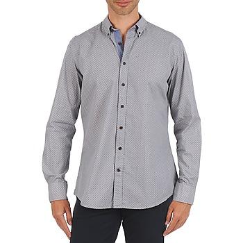 textil Hombre camisas manga larga Hackett MEDALLION MULTI BD Azul