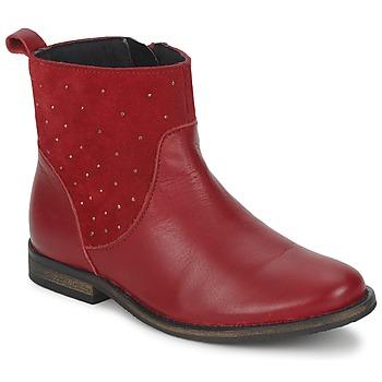 Zapatos Niña Botas de caña baja Citrouille et Compagnie BELFINE Rojo