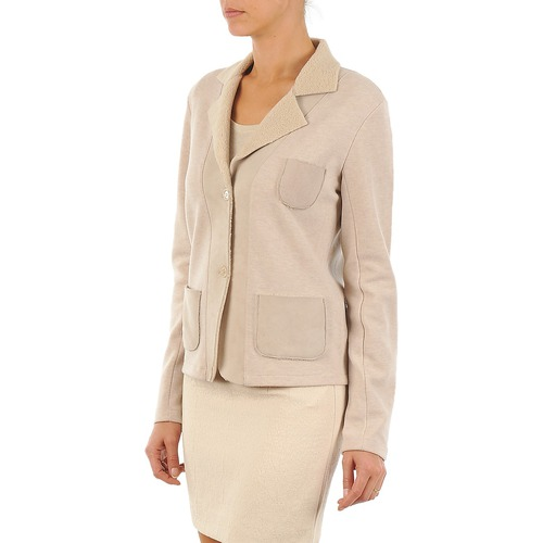 244 ChaquetasAmericana Textil Mujer Majestic Beige vN80wnmO