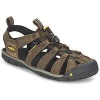 Zapatos Hombre Sandalias de deporte Keen CLEARWATER CNX LEATHER Marrón / Negro