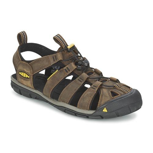 Zapatos especiales para hombres y mujeres Keen CLEARWATER CNX LEATHER Marrón / Negro