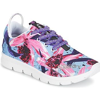 Zapatos Mujer Zapatillas bajas Superdry SUPERDRY SCUBA RUNNER Rosa / Azul