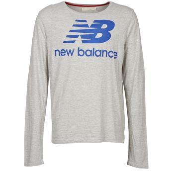 textil Hombre Camisetas manga larga New Balance NBSS1403 LONG SLEEVE TEE Gris