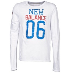 textil Hombre Camisetas manga larga New Balance NBSS1404 GRAPHIC LONG SLEEVE TEE Blanco