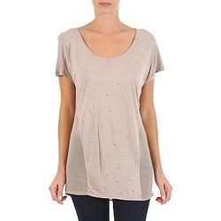 textil Mujer camisetas manga corta La City MC BEIGE Beige