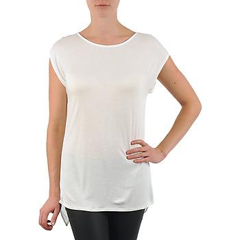 textil Mujer camisetas manga corta La City TS CROIS D6 Blanco