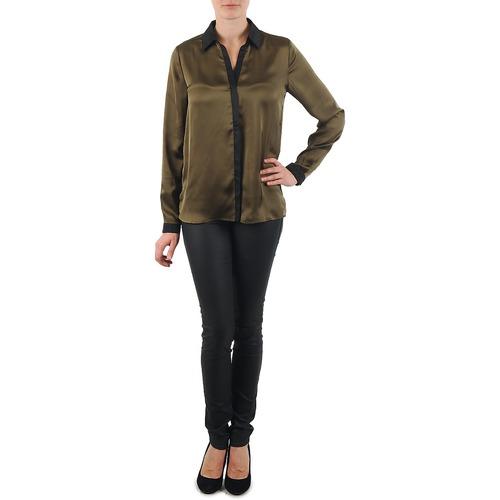 Camisas Patte Chem O Mujer La KakiNegro Textil City Nnv8Om0w