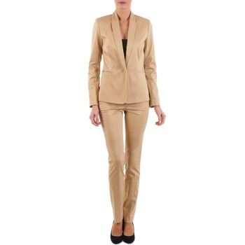textil Mujer pantalones con 5 bolsillos La City PBASIC Beige