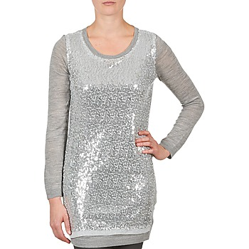 textil Mujer túnicas La City PULL SEQUINS Gris