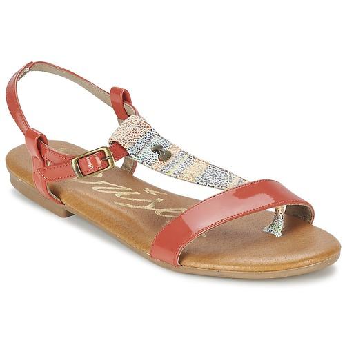 Zapatos Mujer Sandalias Le Temps des Cerises CARLY CORAIL Coral