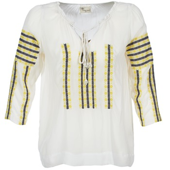textil Mujer Tops / Blusas Stella Forest ATU025 Blanco / Gris / Amarillo