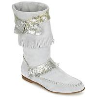 Zapatos Mujer Botas urbanas Now MATELI Gris / Plateado