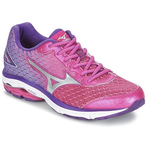 Zapatos Mujer Running / trail Mizuno WAVE RIDER 19 Fucsia / Plateado / Violeta
