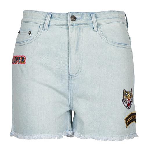 American Retro BORIS Azul - Envío gratis   ! - textil Shorts / Bermudas Mujer