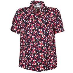 textil Mujer camisas manga corta American Retro NEOSHIRT Negro / Rosa / Naranja