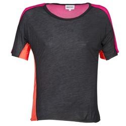 textil Mujer camisetas manga corta American Retro CAROLE Negro / Rosa