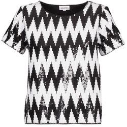 textil Mujer camisetas manga corta American Retro GEGE Negro / Blanco