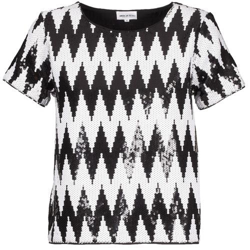American Retro GEGE Negro / Blanco - Envío gratis | ! - textil camisetas manga corta Mujer