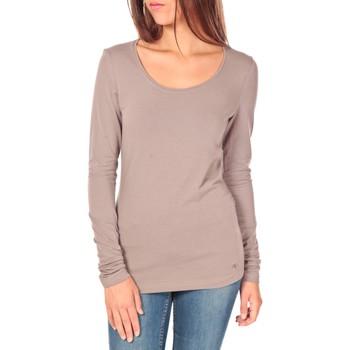 textil Mujer Camisetas manga larga Tom Tailor Lara Stretch Longsleeve Taupe Marrón